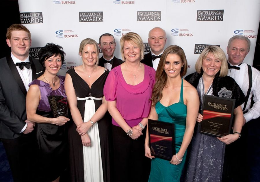 Reflex Marine team win awards at the Excellence in Business Training Awards.