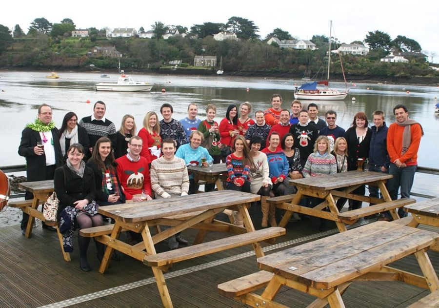 Reflex Marine team and partners at Christmas party.
