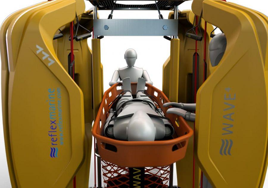Offshore personnel basket - WAVE-4 - Reflex Marine